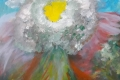 16.Fleur des neiges revisitée  (TOILE 40cm x 40cm  Prix=130 €)