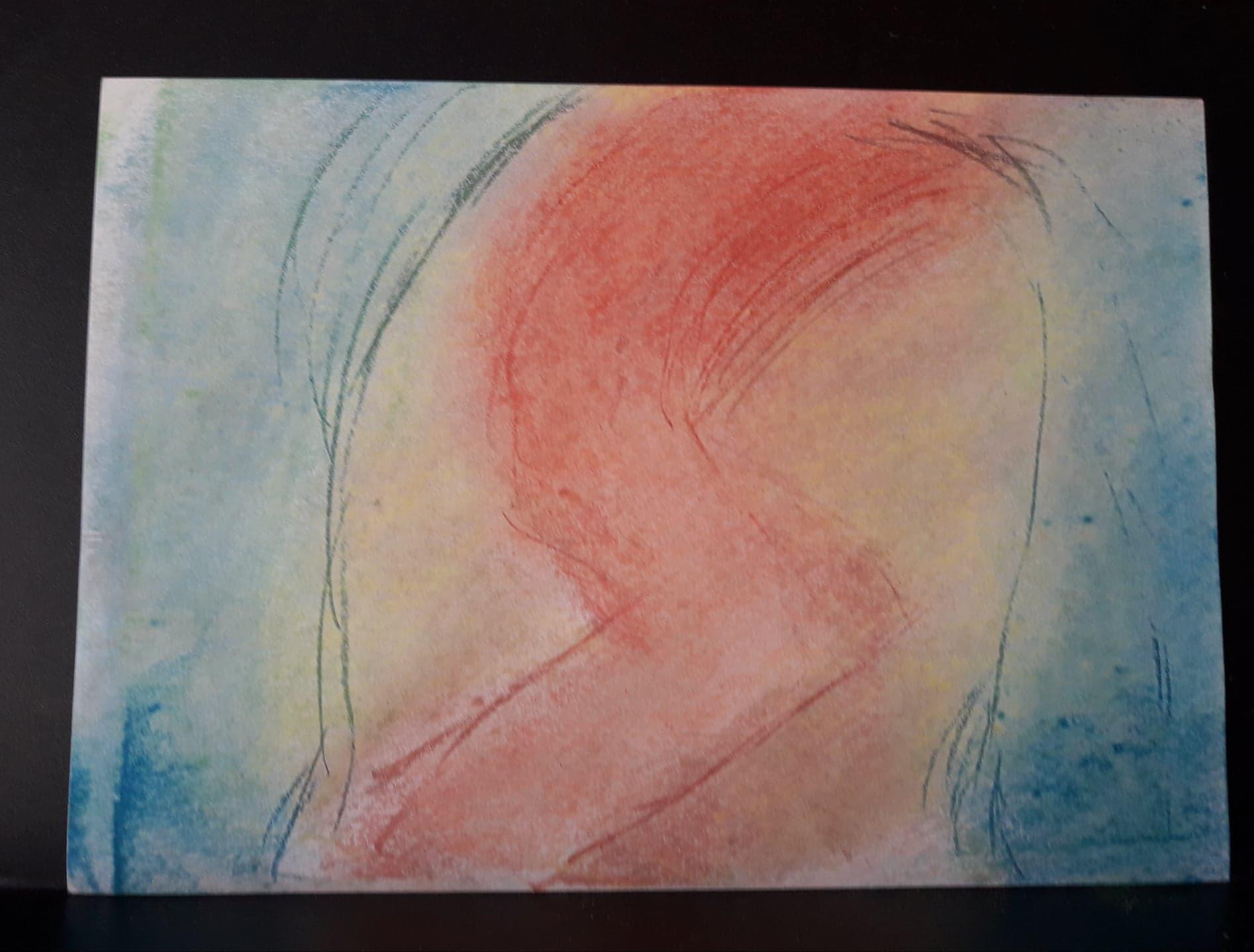 10.Endormi pastel  (D  24cm x 32cm    Prix=50 €)