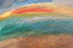 12.La mer arc en ciel (TOILE  30 cm x 40 cm Prix=120 €)