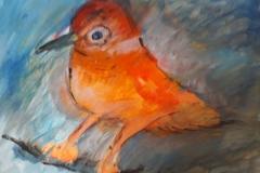 02.Oiseau apeuré (D : 30cm x 42cm    Prix=100 €)