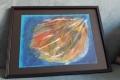 07. Tendre bleu (D : 24cm x 32cm  CADRE), VENDU