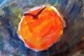 33. Pomme et miel (D : 21cm x 30cm   ) VENDU