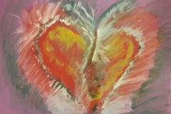 11.Coeur ouvert (D : 35cm x 50cm    Prix=110 €)