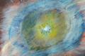 19.Oeil de planète   (D : 30cm x 42cm    Prix=100 €)
