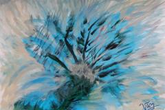 05.Palmier bleu (D : 30cm x 42cm    Prix=100 €)